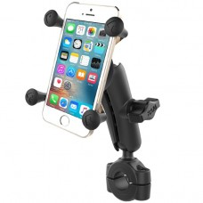 "Torque™ 3/4"" - 1"" Diameter Handlebar/Rail Base with 1"" Ball, Standard Arm and X-Grip® for Phones"